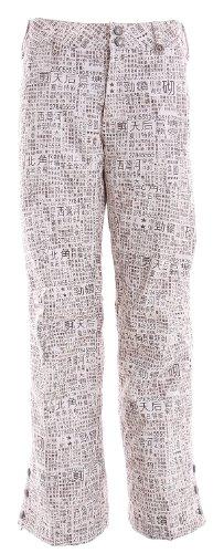 Burton Mighty Snowboard Pants Chestnut Paper Print Womens Sz M Burton B003SQHLPU