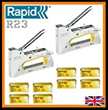 2 x Rapid R23 Hand Tacker / Stapler + FREE 40000 Staples 6mm