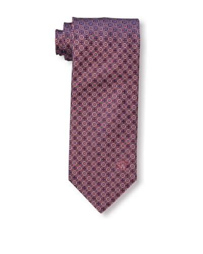 Versace Men's Circles Tie, Red