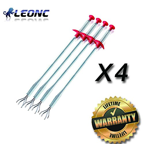 leonc-drain-capelli-clog-remover-4-pack-scarico-snake-attrezzature-auger-tipo-di-utensile-di-pulizia