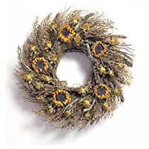 18in. Sunflower Country Wreath