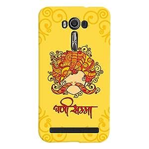 ColourCrust Asus Zenfone 2 Laser ZE601KL Mobile Phone Back Cover With Ghani Khamma Rajasthani Style - Durable Matte Finish Hard Plastic Slim Case