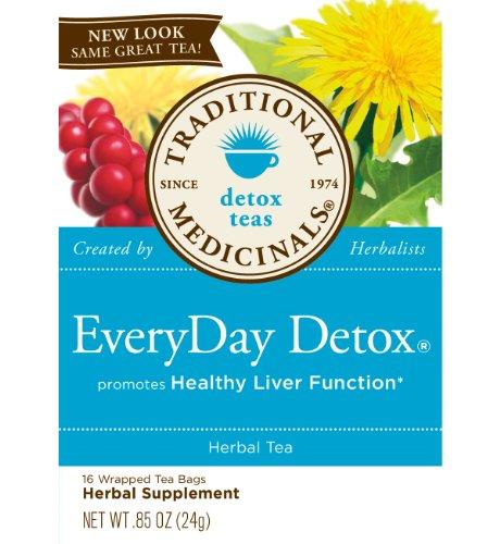 Traditional Medicinals Herb Tea,Og3,Evrydy Detox, 16 Bag, Cs-6