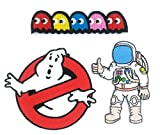 Peace010-GHOST - 3 Space Iron-on Applique Embroidered Patch (Ghostbuster Movie, Astronaut, Pac-man Ghosts)