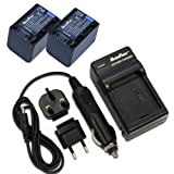 MaximalPower FC500 SON FV Travel Charger and Two Replacement Battery for Sony NP-FV70, Combo FC500 SON FV, DB SON NP-FV70x2