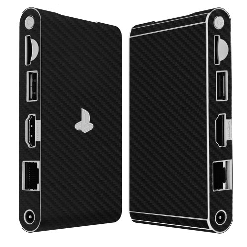 Skinomi® Techskin - Sony Playstation Vita Tv - Carbon Fiber Black Full Body Skin Protector / Front & Back Premium Hd Clear Film / Ultra High Definition Invisible And Anti Bubble Crystal Shield With Free Lifetime Replacement Warranty - Retail Packaging