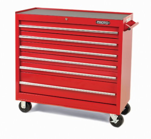 Stanley Proto J444142-6RD 440SS 41-Inch Workstation, 6 Drawer, Red (Stanley Garage Cabinets compare prices)