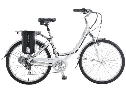 Currie Technologies Women's eZip Trailz Commuter Lithium Electric Bicycle, White, 15-Inch