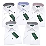 (グリニッジ ポロ クラブ) GREENWICH POLO CLUB 半袖5枚セット ワイシャツセット yシャツ ボタンダウン ホリゾンタル 形態安定 クールビズ ワイシャツ ビジネス 白 メンズ