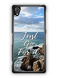 YuBingo Just Go For It Designer Mobile Case Back Cover for Sony Xperia Z2