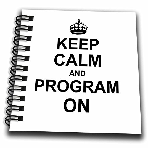 InspirationzStore Typography - Keep Calm and Program on - carry on programming coding - Programmer job gifts - fun funny humor - Mini Notepad 4 x 4 inch (db_157757_3)