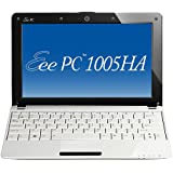 "Asus Eee PC 1005HA Seashell Netbook 10"" Windows 7 Starter Intel Atom N280 Webcam Wifi RAM 1 Go HDD 250 Go Blanc"