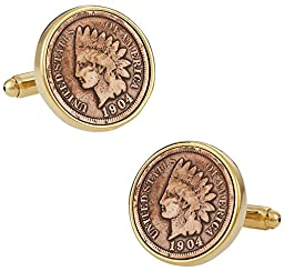 Indian Head Penny Coin Cufflinks by Cuff-Daddy
