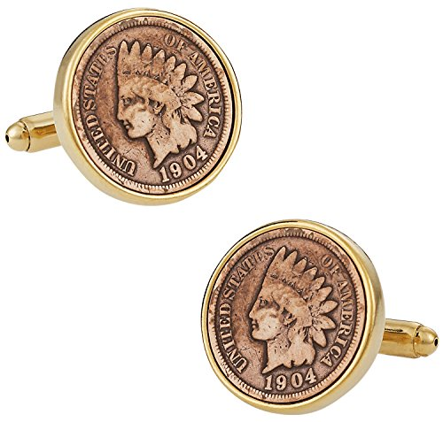 Indian Head Penny Coin Cufflinks by Cuff-Daddy (Indian Head Coin compare prices)