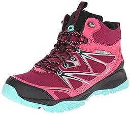 Merrell Women\'s Capra Bolt Mid Waterproof Hiking Boot, Bright Red, 7 M US