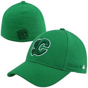Reebok Calgary Flames St. Patrickâ€TMs Day Flex Hat - Kelly Green