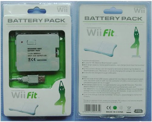 2800mAh RECHARGABLE BATTERY PACK FOR NINTENDO Wii FIT BALANCE BOARD. Part of the XYLO ACCESSORIES RANGE.