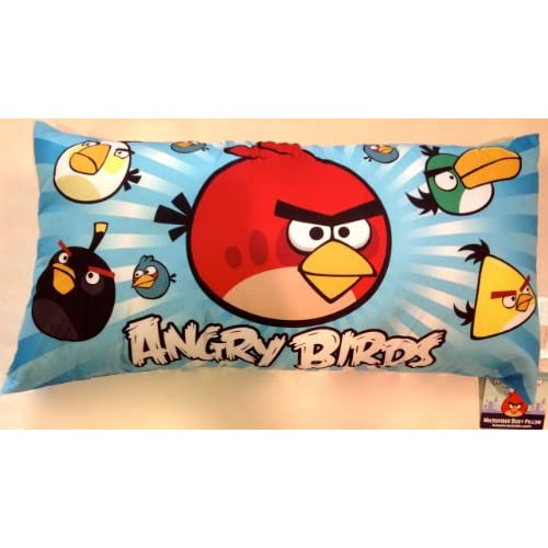 Amazon Com Giant Angry Birds Body Pillow Childrens Pillows