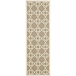 Safavieh Courtyard Collection CY6032-242 Brown and Beige Indoor/ Outdoor Runner, 2 feet 3 inches by 10 feet (2\'3\