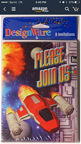 Outer Space Airplane Party Invitations - (Outer Space Invitations compare prices)