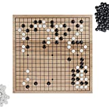Go Set with Natural Wood Board and Complete Set of Stones by Brybelly