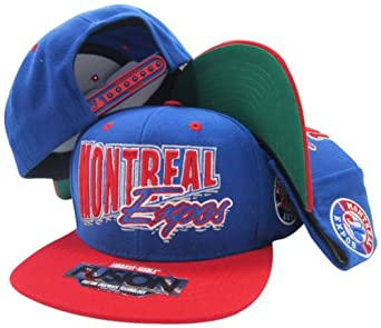 Montreal Expos Blue Red Fusion Angler Snapback Hat Cap by American Needle