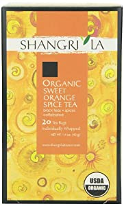 Shangri La Tea Company Organic Tea Bags, Sweet Orange Spice, 20 Count
