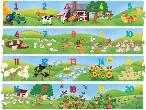 Puzzle Place - Counting Farm - 40-Piece 11 Foot Floor Puzzle - 1