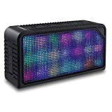 Bluetooth Speakers,URPOWER® Hi-Fi Portable Wireless Stereo Speaker with 7 LED Visual Modes and Build-in Microphone Support Hands-free Function, for iPhone 6s Plus,6s,Samsung,Tablets and More