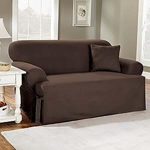 Amazon Com Sure Fit Cotton Duck T Cushion Sofa Slipcover