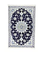 Eden Alfombra Nain K Azul/Marfil 90 x 142 cm