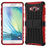 DMG Sturdy Dual Layer Kick Stand Hard Back Case For Samsung Galaxy A7 A700 (Red)
