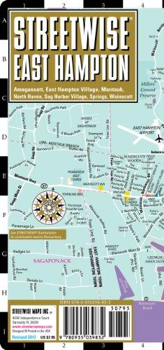 Streetwise East Hampton Map - Laminated City Street Map of East Hampton New York093521643X : image