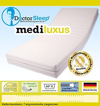 7 – Cool Zone Mattress 180 x 200 x 16, 5 cm, Hardness H2 (hr45), Reference medipur