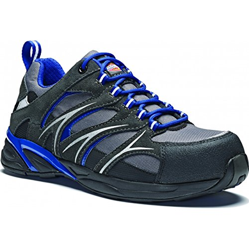 Dickies - Haxtun - Scarpe sportive antinfortunistiche senza metallo - Unisex (40 EU) (Grigio)