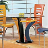 Global Furniture USA D5443 eating out Table, straightforward a glass Accents