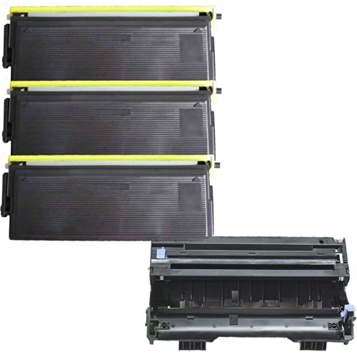 (1 Drum + 3 Toner) Inktoneram® Replacement Toner Cartridges & Drum For Brother Tn430 Dr400 Toner Cartridges & Drum Replacement For Brother Dr-400 Tn-430 Set