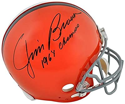 Jim Brown Cleveland Browns Autographed Pro Line Riddell Authentic Helmet with 1964 Champs Inscription - Fanatics Authentic Certified