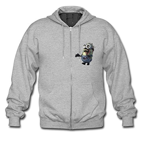 Walking-Dead-Zombie-Minion-Custom-Mens-Hoody-Zip-Hoodie-Sweatshirt-Jacket