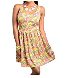 G2 Chic Women's Floral Patterned Skater Dress