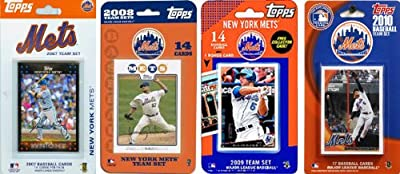 MLB New York Mets 4 Different Licensed Trading Card Team Sets