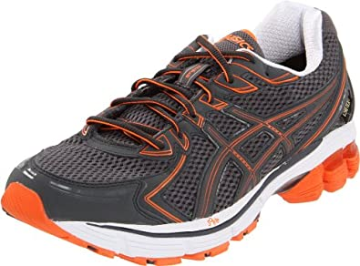 ASICS Men's Gt-2170 G-TX Running Shoe,Storm/Cement/Electric Orange,13.5 M US