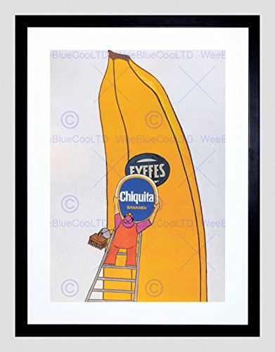advert-switzerland-chiquita-banana-fruit-black-framed-art-print-picture-b12x4336