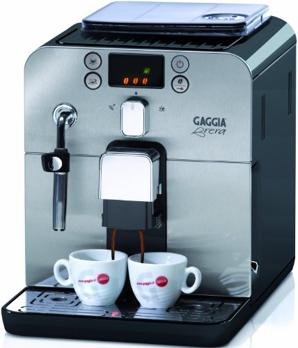 Gaggia RI9833/61 Kaffeevollautomat Brera (Dampfdüse) schwarz thumbnail