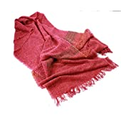 Long Stole Scarf-Red-Made in Ireland