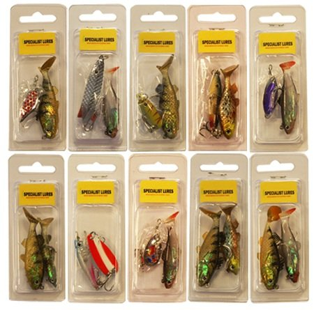 fishing lures hooks 10 packets / 20 LURES / FISH / SPINNERS / SPOONS