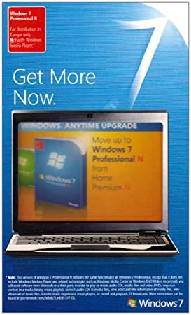Windows Anytime Home Premium N to Professional 7 N