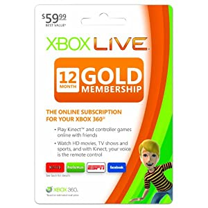 SavvySleuth.com Xbox Live 12 Mo Gold Card
