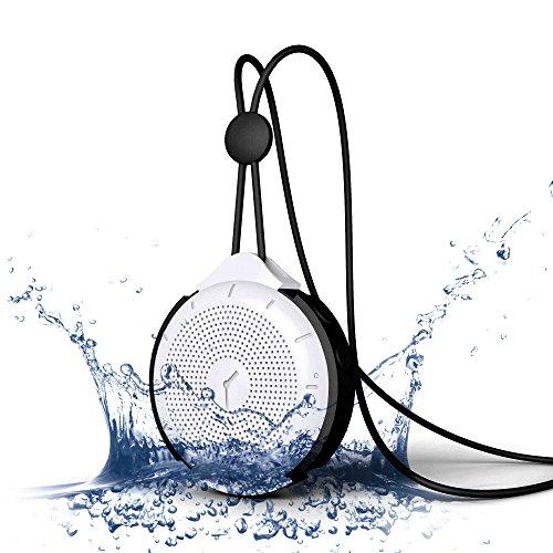 MOCREO®IPX4防水Bluetoothスピーカー ポータブルワイヤレススピーカー、mini Bluetooth speakers、屋内/屋外ウルトラミニ、バッテリー内蔵/ TFカードサポート,ハングアップリングデザイン持ち運び簡単/充電式iPhone 6/6 plus/5s/5C/4s;Samsung galaxy S5/S4/S3,Samsung Note 2;HTC,iPad Air/5;iPad mini Retina;iPod,Google Nexus 7,Nexus 5,MP3 Players他のBluetoothデバイス対応 MOSOUND Tictac ブラック