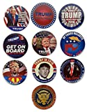 Donald Trump Campaign Buttons Make America Great Again 10-PACK